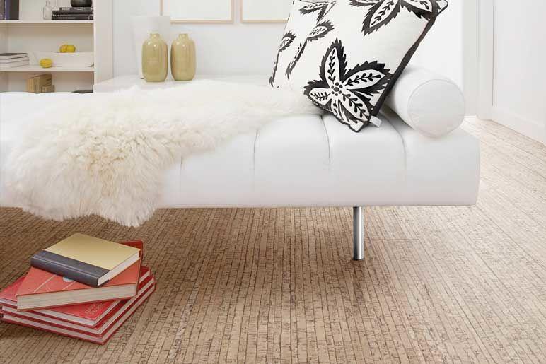 Bodenbelag Korkboden im Wohnzimmer